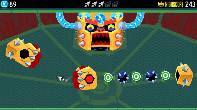 Tilt your way through dangerous obstacle courses in Tilt to Live: Gauntlet's Revenge