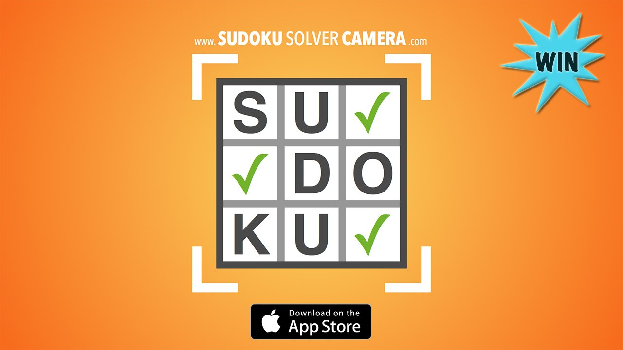 Win Sudoku Solver Camera and never get stuck on another puzzle again