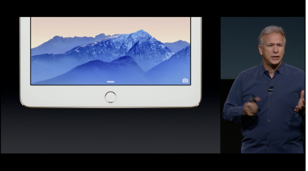The iPad Air 2 offers a Touch ID sensor and will support Apple Pay for online purchases