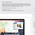 Apple's OS X Yosemite can be downloaded from the Mac App Store now for free