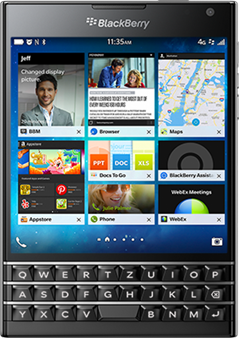Get up to $550 when you trade in your iPhone for a BlackBerry Passport