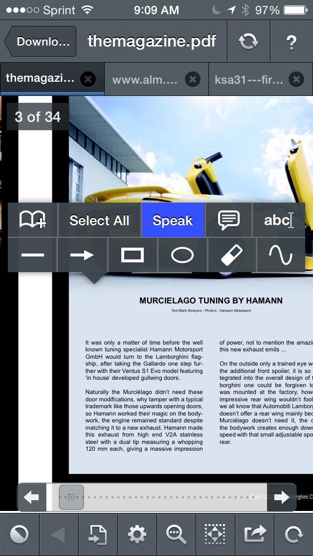 GoodReader's text-to-speech lets you turn any PDF or TXT document into an audiobook