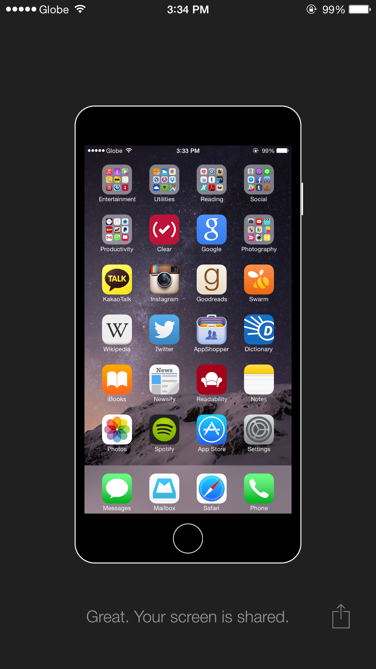 Easily share what's on your iPhone #Homescreen with this new app from Betaworks