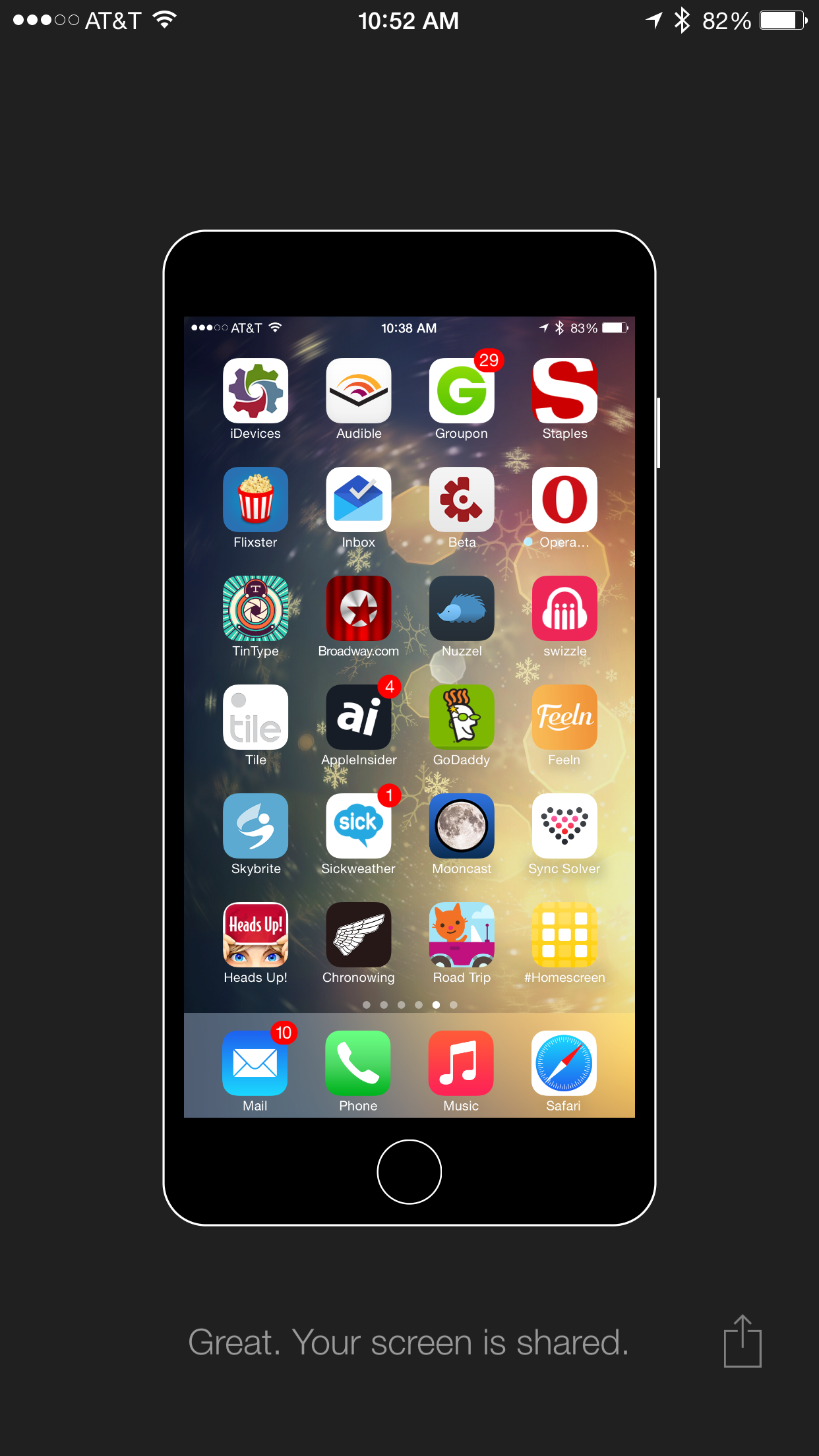 View the 'Top Apps This Week' courtesy of the new iPhone #Homescreen app