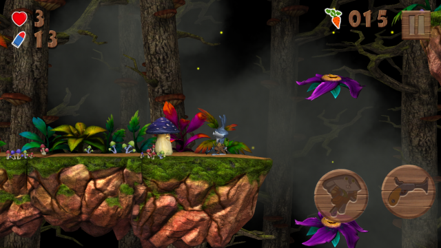 Help Raby rescue his friends and defeat the mad mushrooms in this beautiful and challenging platformer