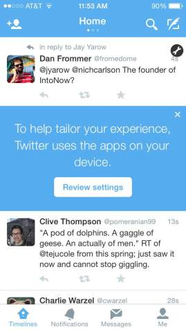 Twitter starts tracking apps on users' iOS devices to build 'more tailored experience'
