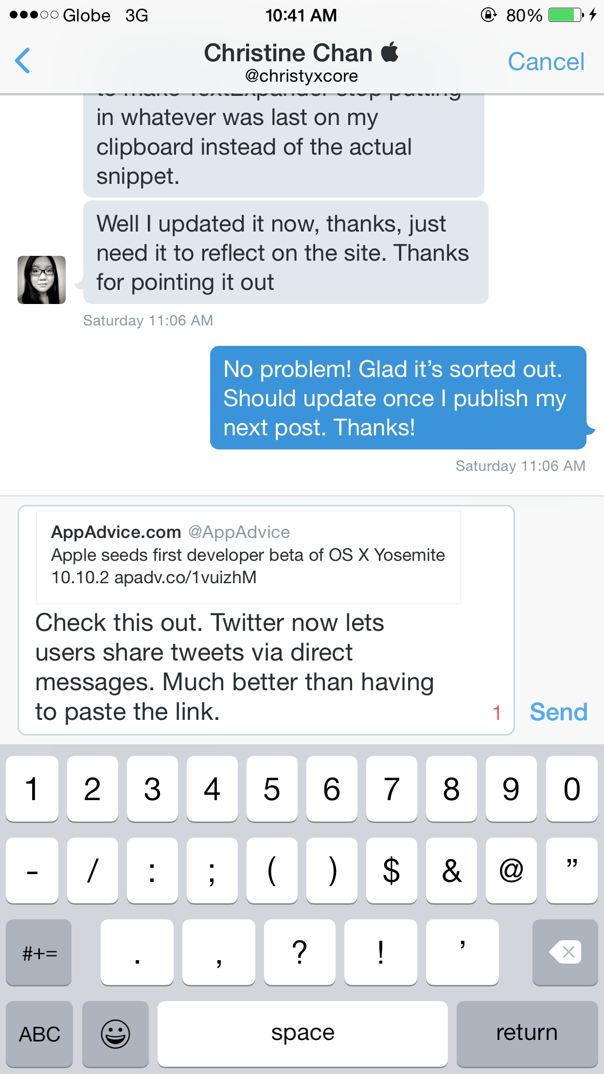 Twitter now lets you privately share and discuss tweets via direct message