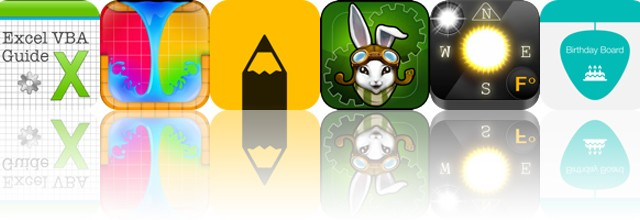 Today's apps gone free: VBA Guide For Excel, LiquidSketch, Neato and more