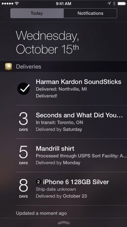 Junecloud updates Deliveries with an iOS 8 Notification Center widget and more