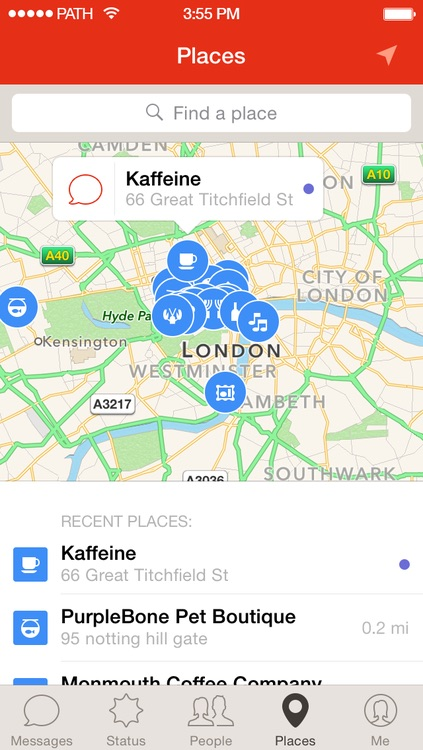 Path's Places service in Path Talk is now available across the pond and down under