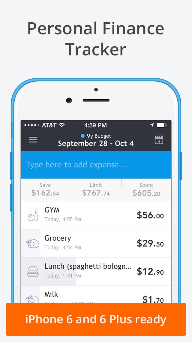 Sumptus expense-tracking app updated with iPhone 6 support, Today widget and more