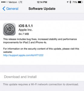 Apple releases iOS 8.1.1 with iPad 2, iPhone 4s improvements