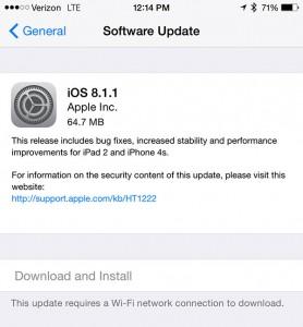 Apple releases iOS 8.1.1 with iPad 2, iPhone 4s improvements