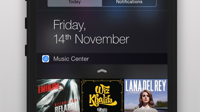 Music Center is a widget that gives you fast access to your favorite tunes