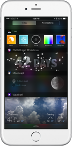 With SNOWidget, you can countdown to Christmas from your iPhone's Today screen
