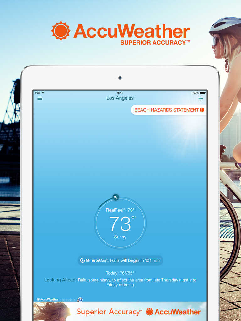 AccuWeather 8.0 features iPad support plus MinuteCast and Today widget improvements