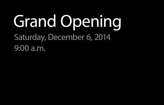 Apple to hold grand opening of new retail store in Toledo, Ohio, on Dec. 6