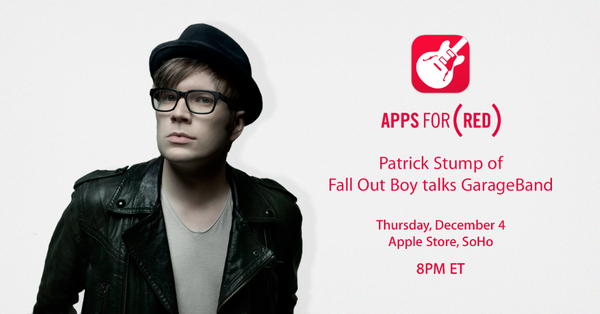 Apple to host Apps for (RED) event featuring Fall Out Boy frontman and GarageBand