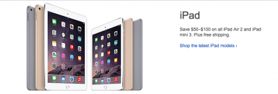 Best Buy offering holiday discounts of up to $100 on iPad Air 2 and iPad mini 3