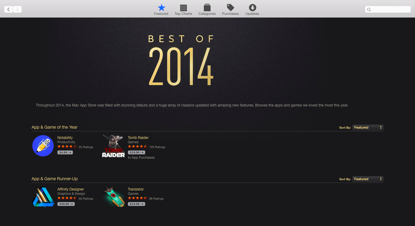 Mac App Store's Best of 2014