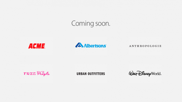 For some partner stores and apps, Apple Pay won't be 'coming later this year' after all