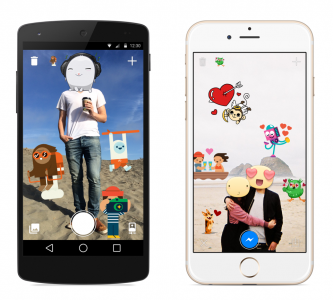 Facebook unveils new Stickered app and send states for Messenger