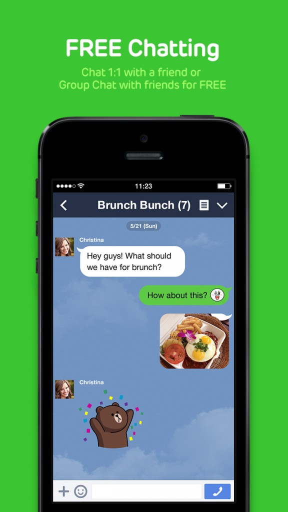 LINE Incorporates The Video Calls on Your Last Update