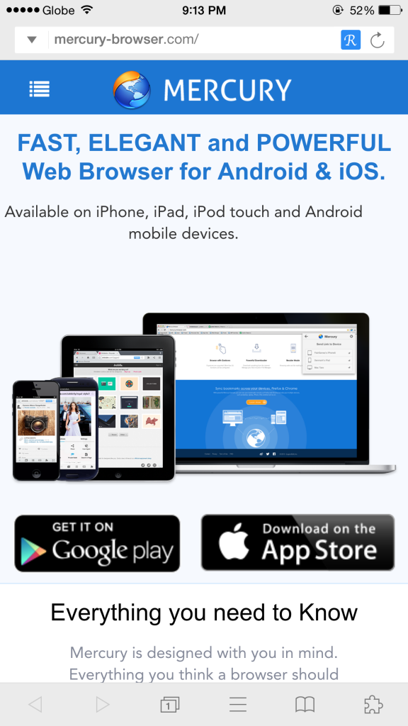 Mercury Browser Pro updated with Today widget, iPhone 6 support and more features