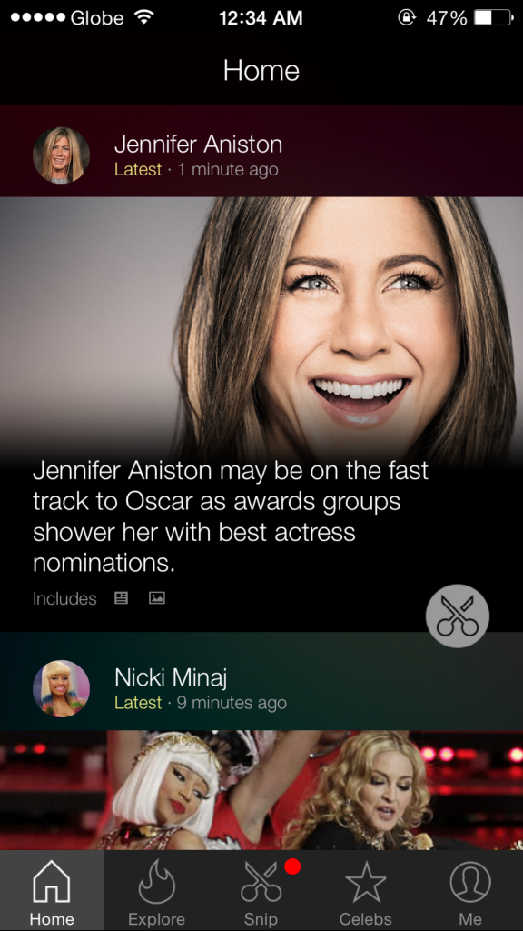Microsoft's Snipp3t now lets you tag your celebrity news snippets