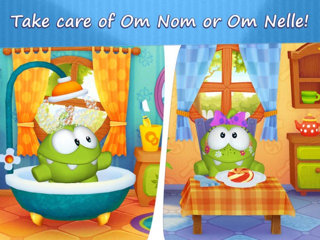 Cut the Rope's cute candy-loving monster stars in new virtual pet app My Om Nom