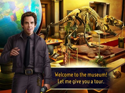 Search for hidden treasures in the official iOS game of 'Night at the Museum 3'