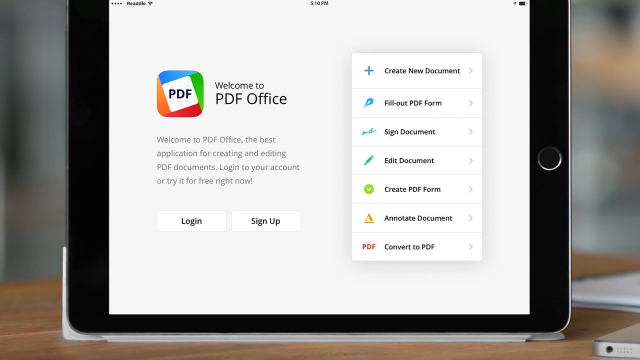 Readdle now lets you easily create and edit PDF files with PDF Office for iPad