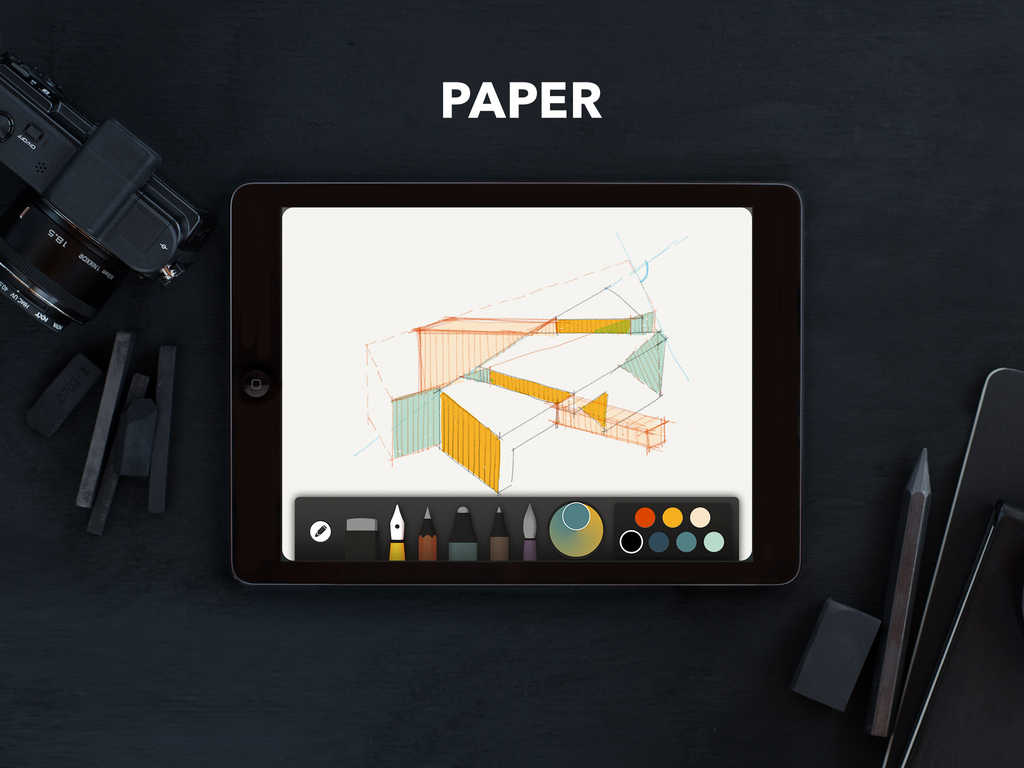 Paper by FiftyThree updated with new 'colorful' features and Mix social improvements