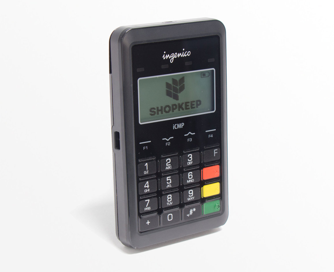 The Apple Pay-compatible Ingenico card reader for ShopKeep