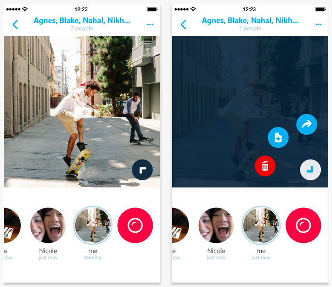 Skype Qik updated with new video menu, iPhone 6 support and frosty holiday surprise