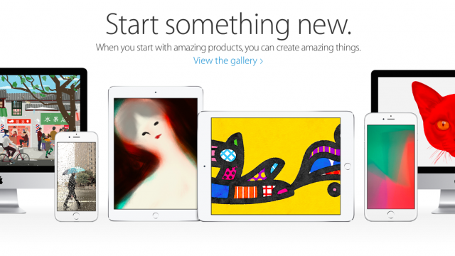 Apple's 'Start Something New' ad campaign turns retail stores into art galleries