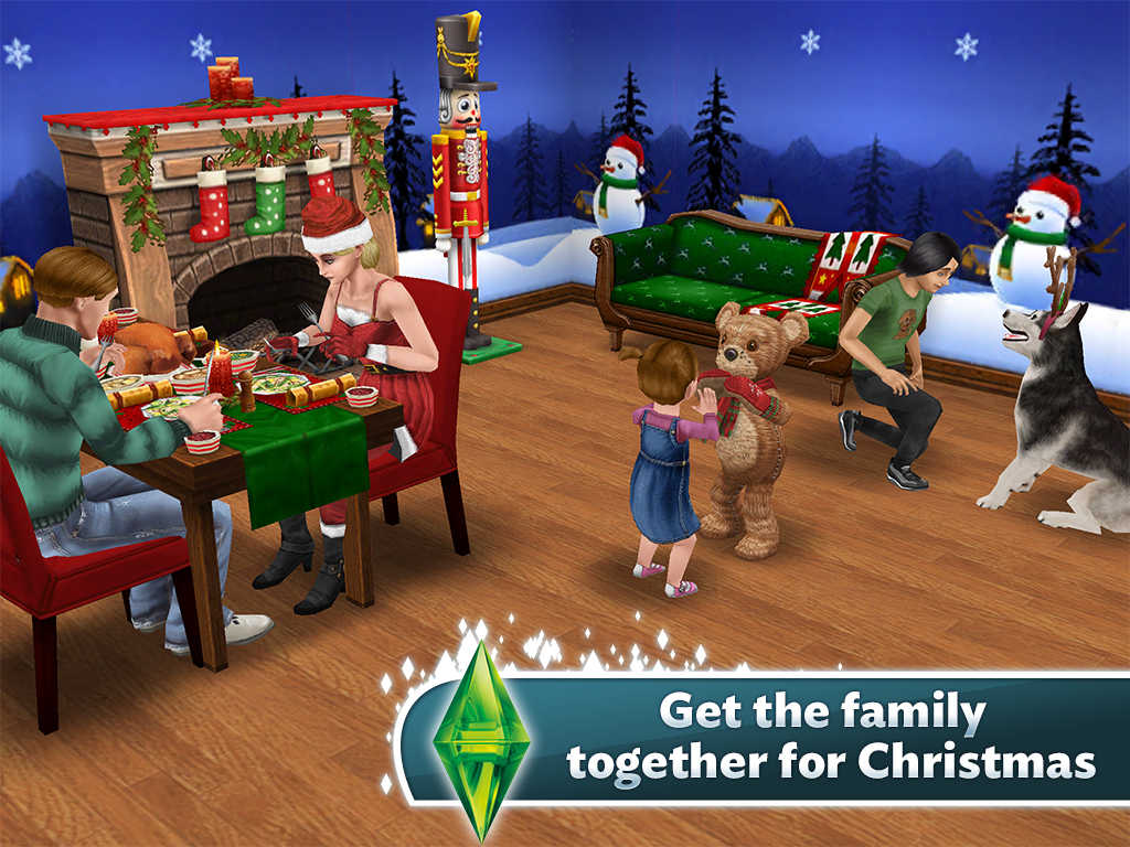 Electronic Arts presents huge ho-ho-holiday update to The Sims FreePlay for iOS