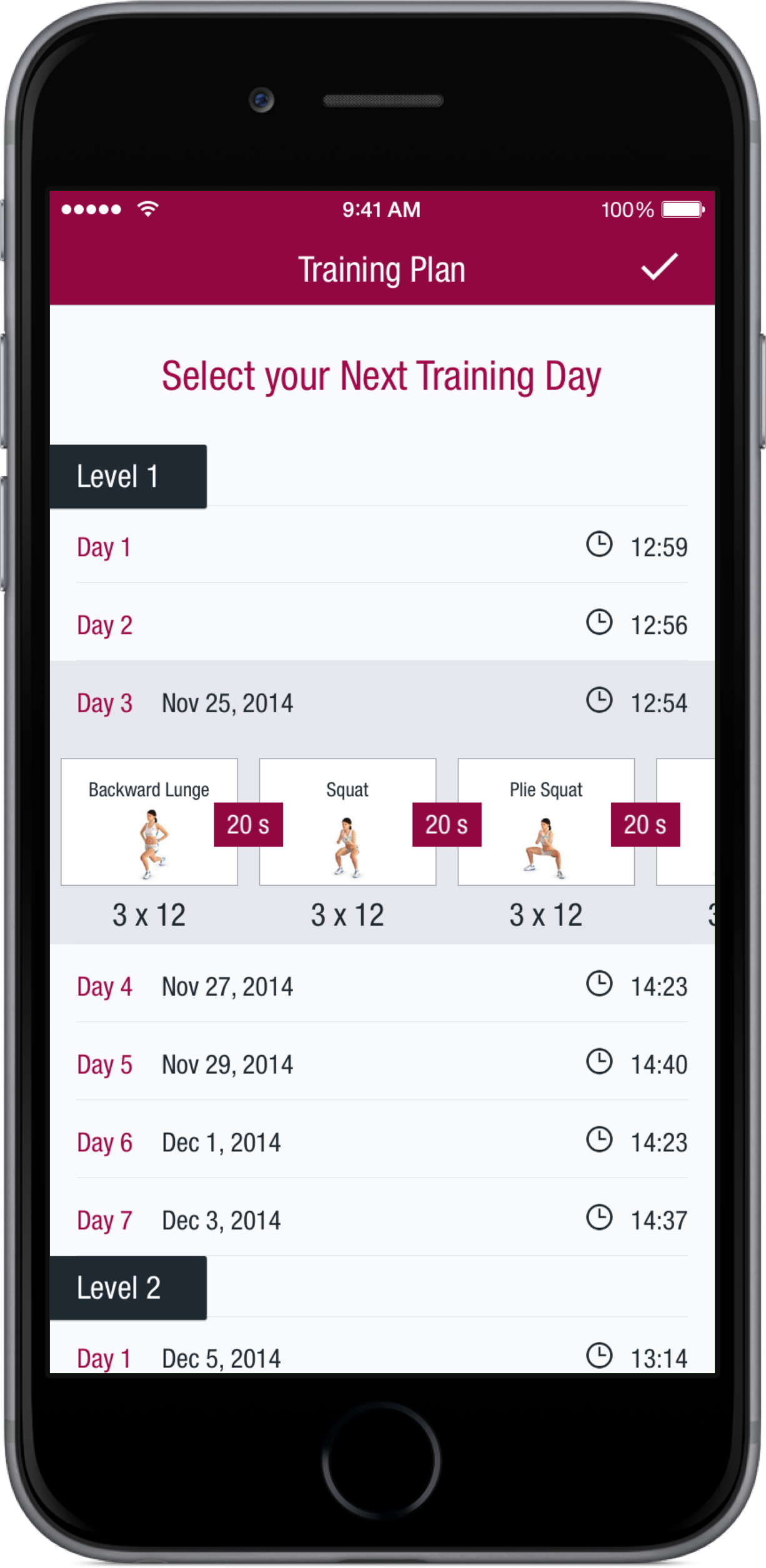 The Runtastic Butt Trainer app features workout videos to tone your backside