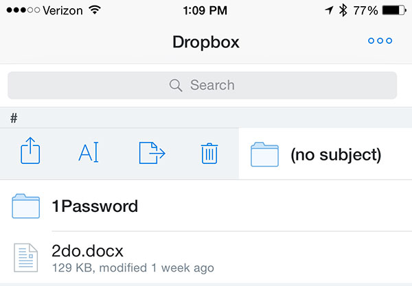 You can now rename files and folders in the Dropbox iOS app