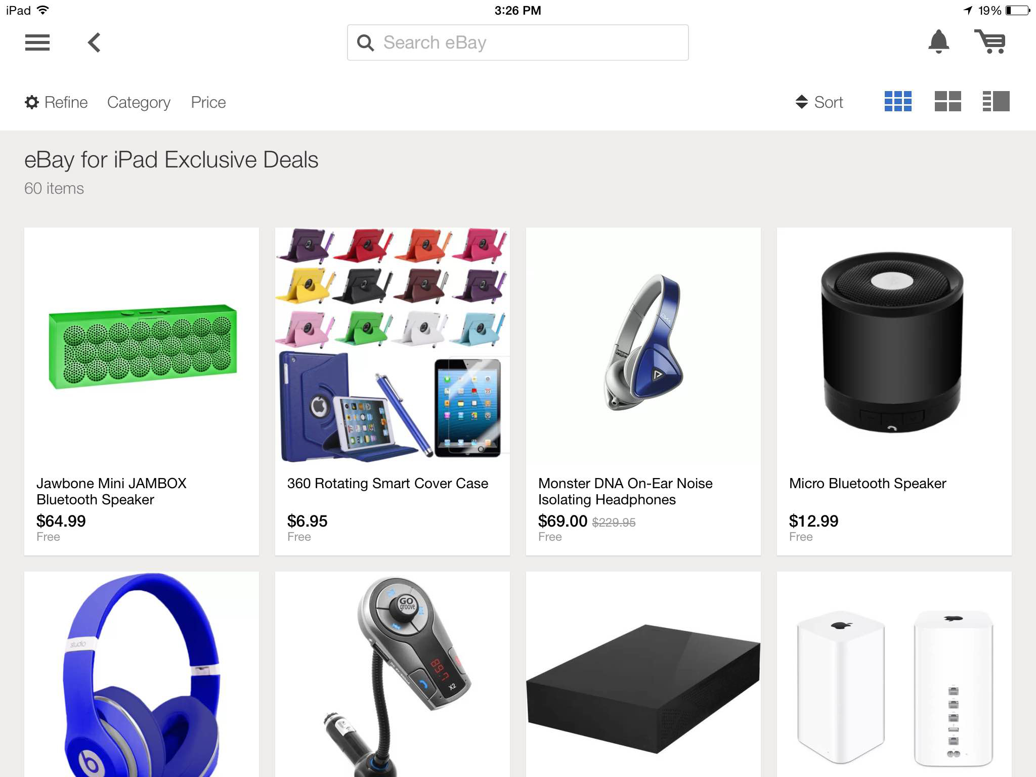 The Ipad Version Of The Ebay App Now Offers A Today Page That Showcases Unique Items