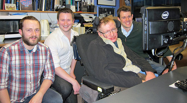 Professor Stephen Hawking is using SwiftKey technology to communicate easier and faster