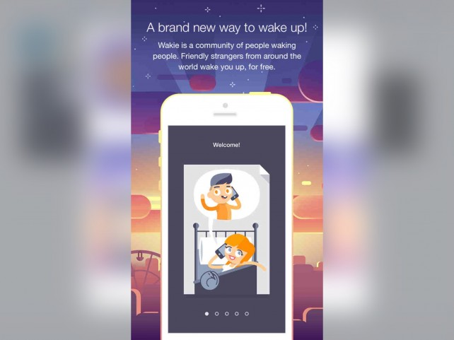 Social alarm clock app Wakie wakes you up with calls from friendly strangers