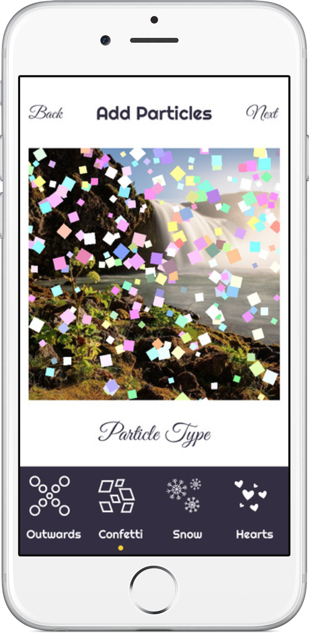 Add particle effects to your photos with Particular for iPhone