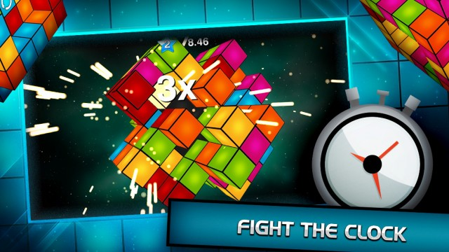Spin and match cubes before reaching critical mass in Polyform, a fresh new match-three puzzler