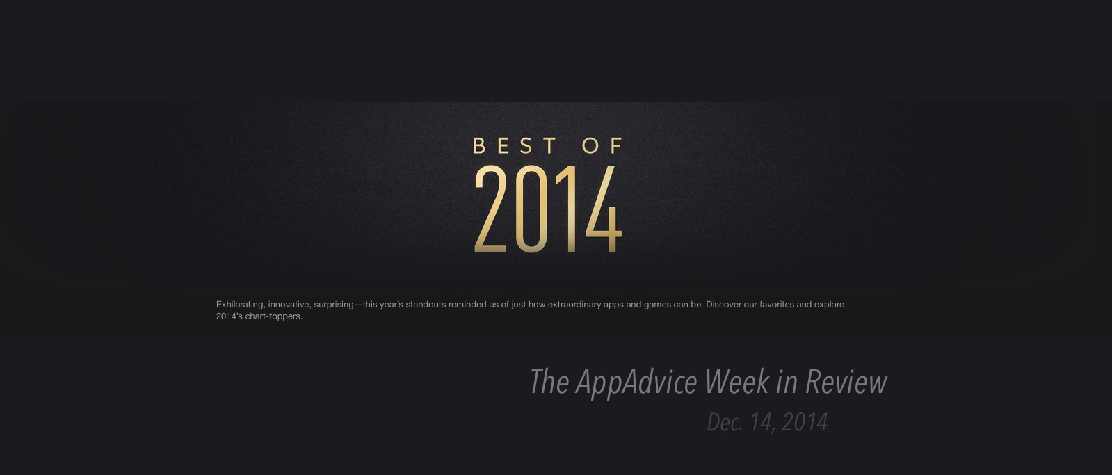 The AppAdvice week in review: Apple unveils the best apps and games of 2014