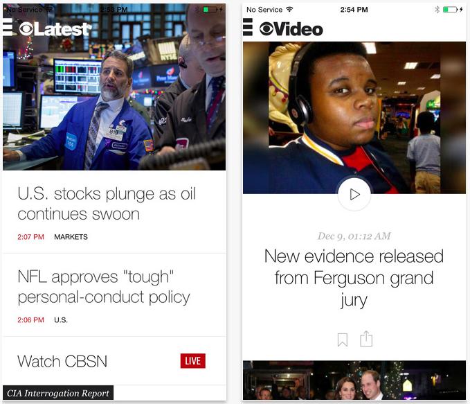 CBS News iPhone