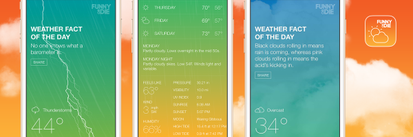 Cloudy with a chance of jokes: Funny or Die releases weather app for iOS