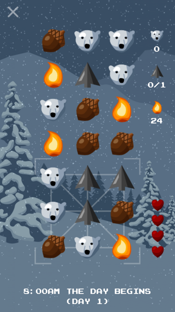 Capture bears and survive the cold, harsh mountains of Bear Winter, a challenging puzzle game
