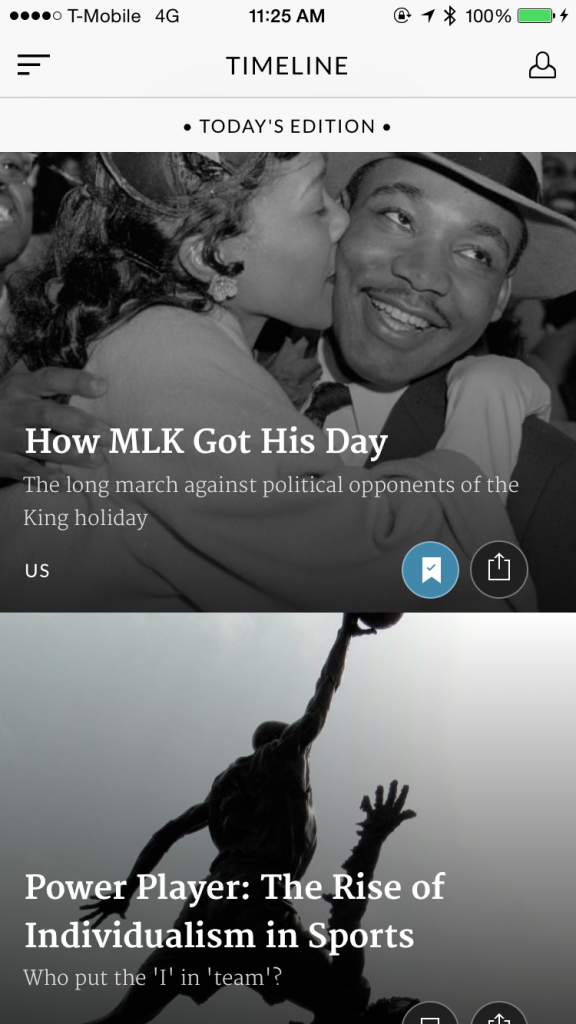 Get the full story in context with Timeline, a unique approach to the news