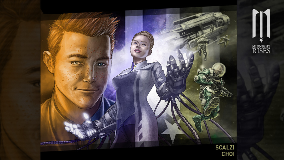 Official graphic novel app of upcoming Midnight Star sci-fi shooter out now on iOS